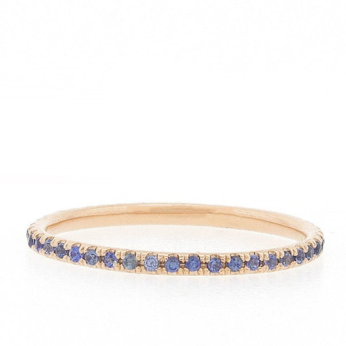 Sapphire Eternity Band - Blue