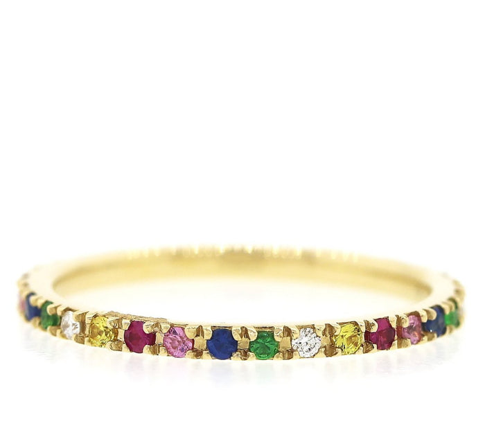 Multicolor Eternity Ring