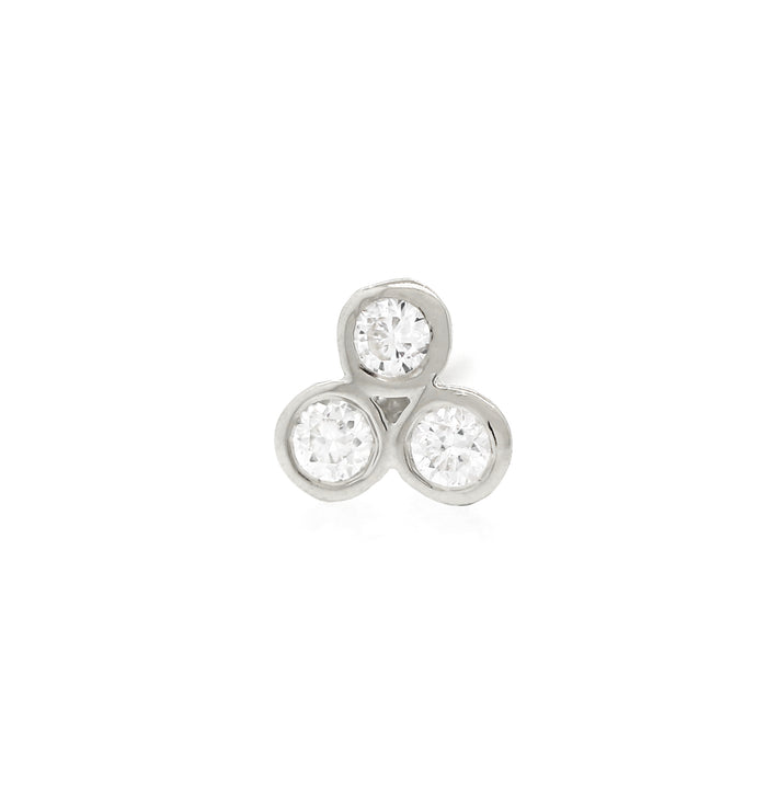 Trio Diamond Studs - White Gold