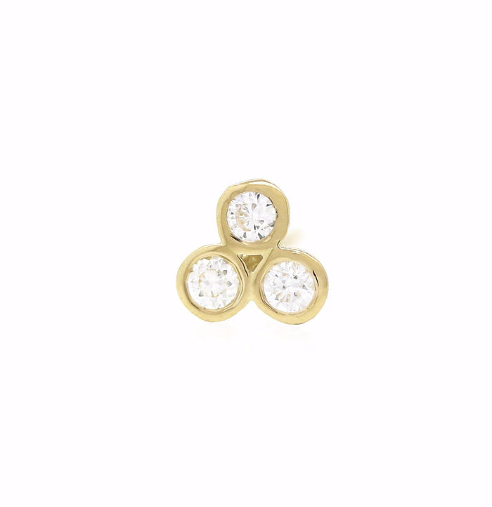 Trio Diamond Studs - Yellow Gold