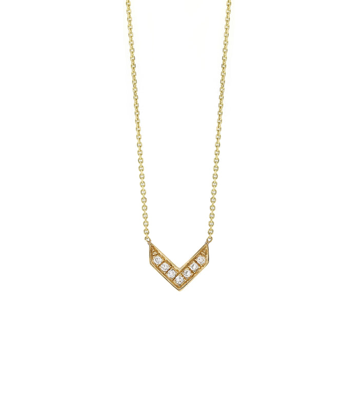 Pave Diamond Chevron Necklace