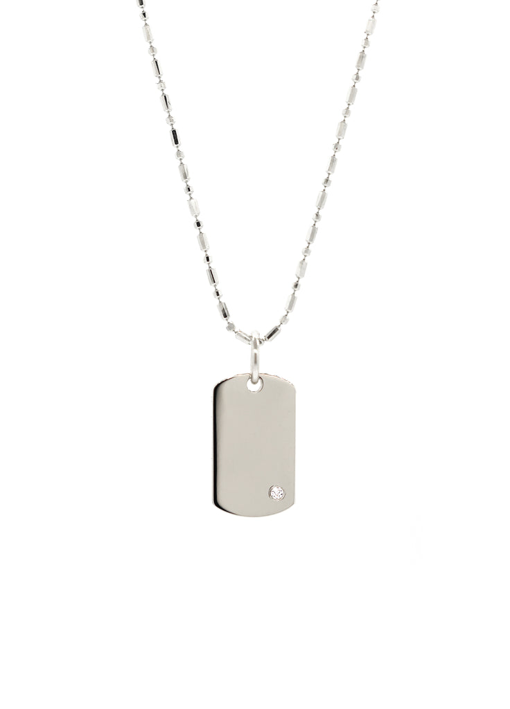 Diamond Tag Necklace