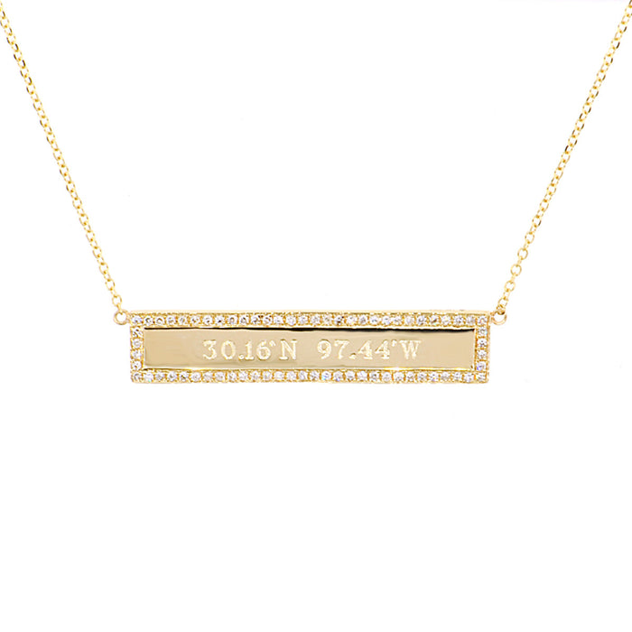 Diamond Navigator Necklace
