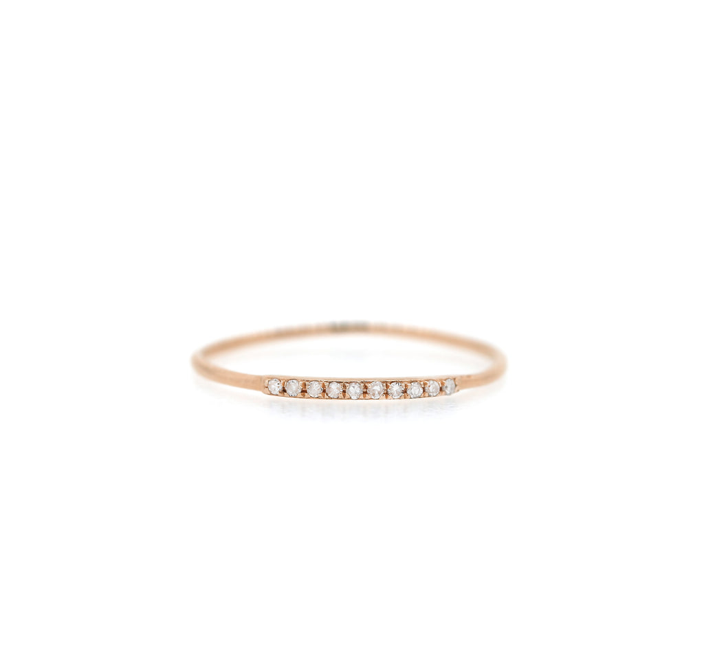 Diamond Pave Segment Ring Skinny