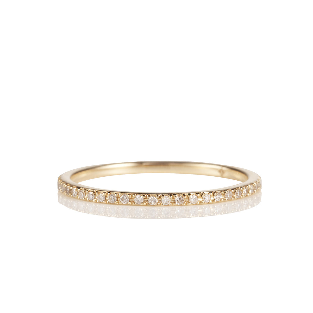 14K Yellow Gold and Diamond Eternity Band