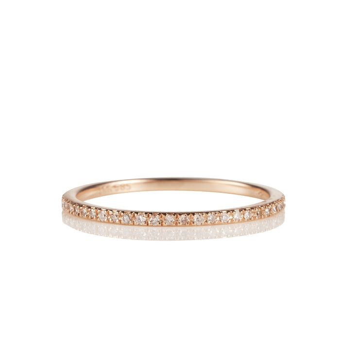 14K Rose Gold and Diamond Eternity Band