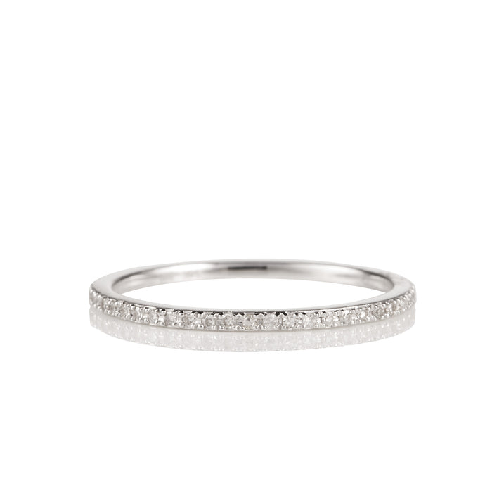 14K White Gold and Diamond Eternity Band