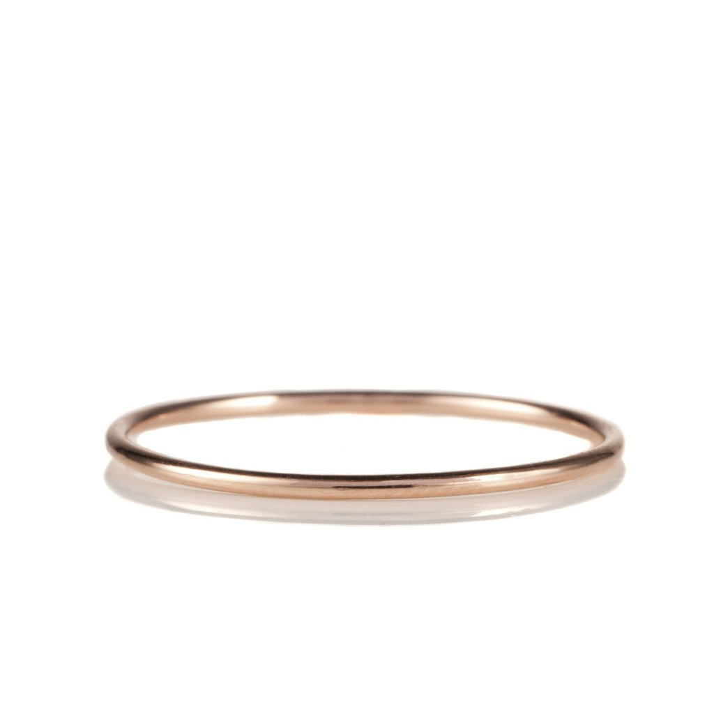 14K Rose Gold Stack Band