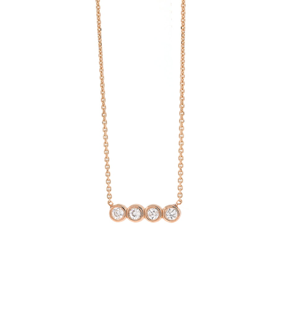 triple bezel diamond townhome necklace pendant meyer jennifer b