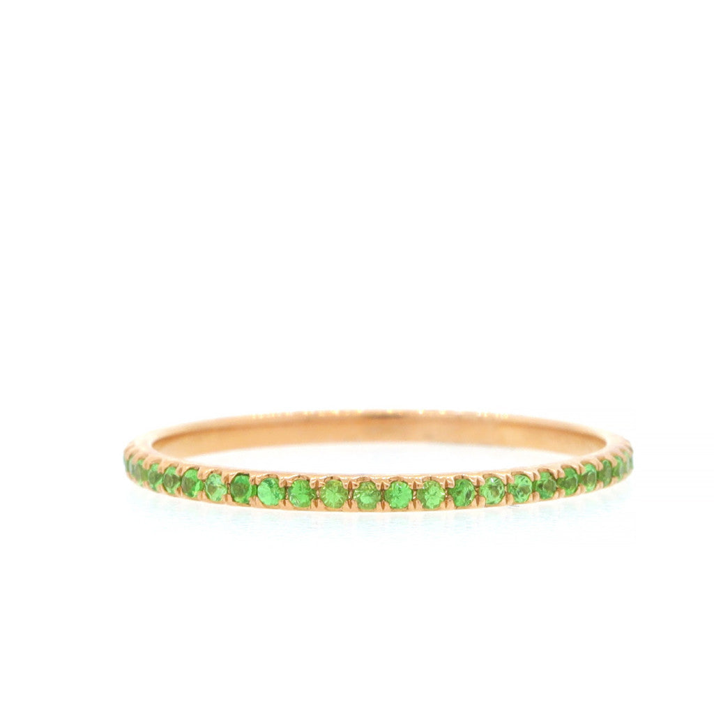 Sapphire Eternity Band-Green