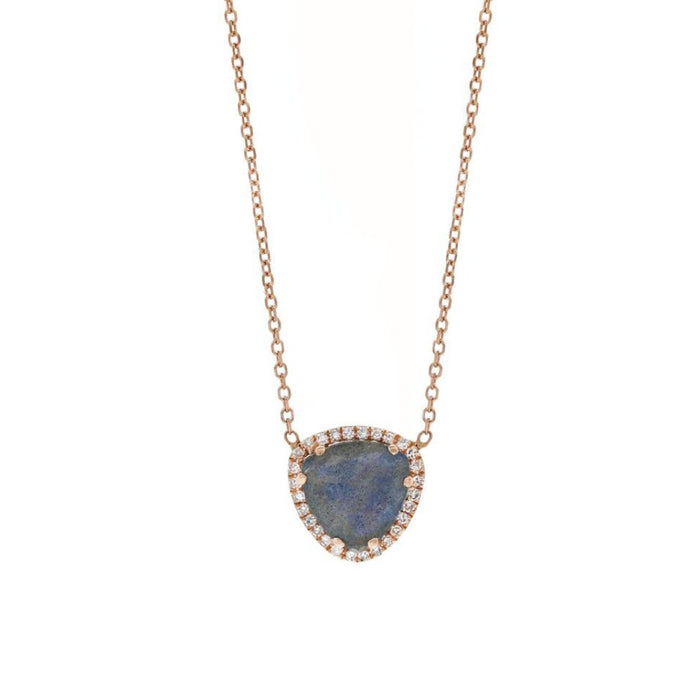 Labradorite and Pave Diamond Necklace