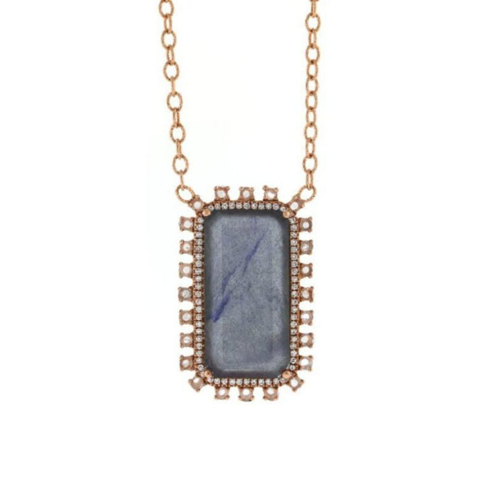 Labradorite Pave Necklace