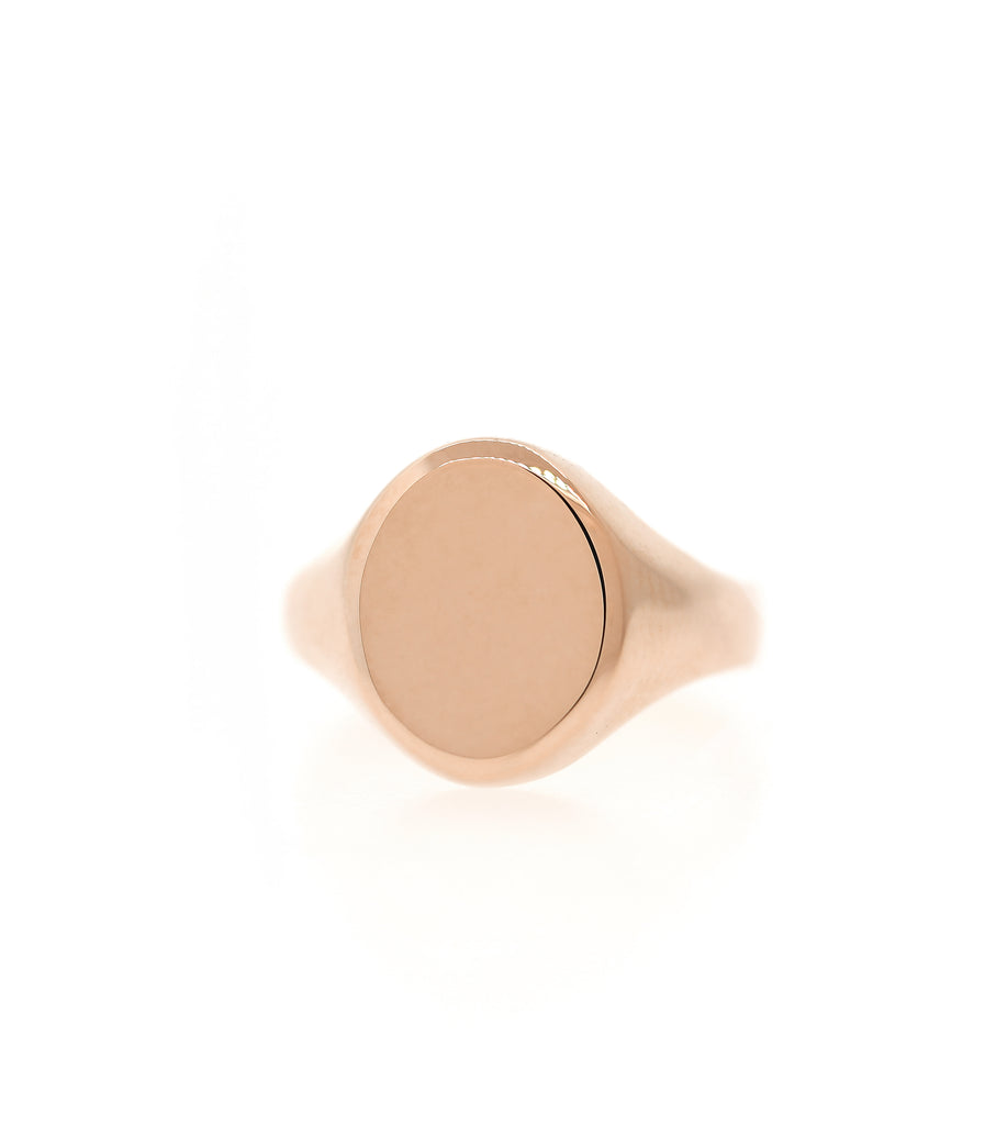 Large Gold Oval Pointer Ring