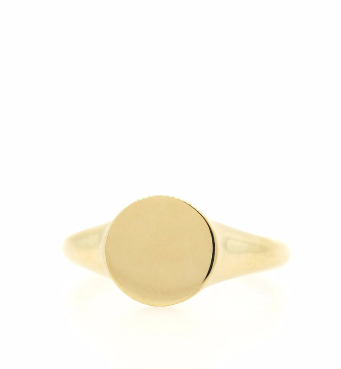Large Gold Round Pointer Ring