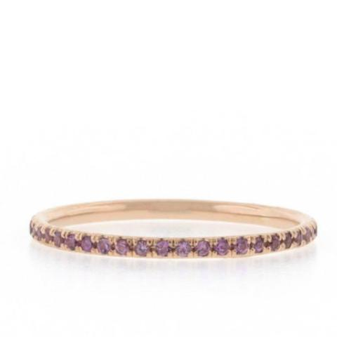 Sapphire Eternity Band - Lavender