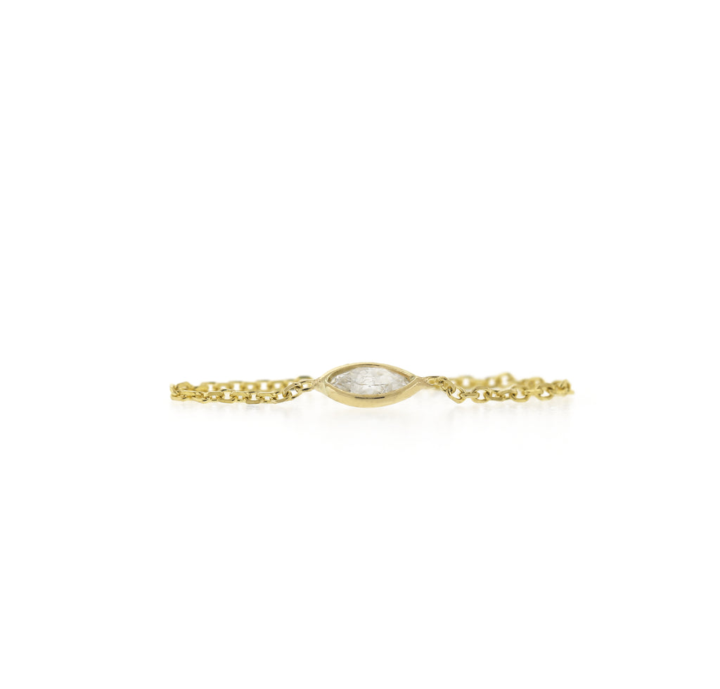 Marquise Diamond Chain Ring