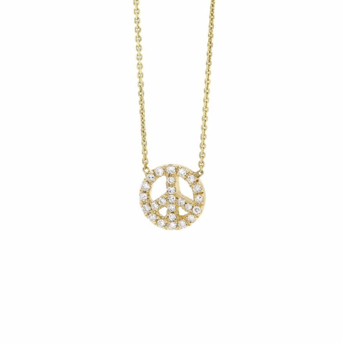 Pave Diamond Peace Necklace