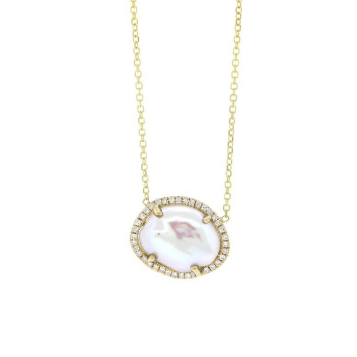 Pearl and Diamond Necklace - Yellow Gold