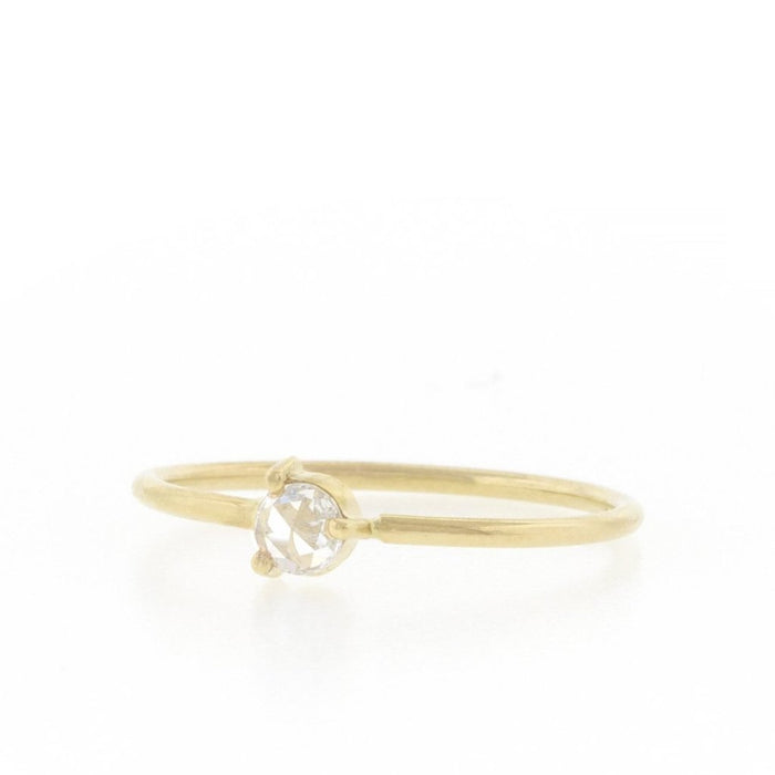 Rose Cut Diamond Solitaire Stack Ring