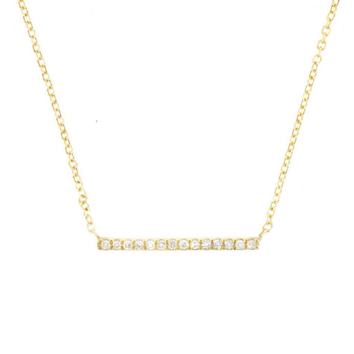 Diamond Line Necklace Yellow