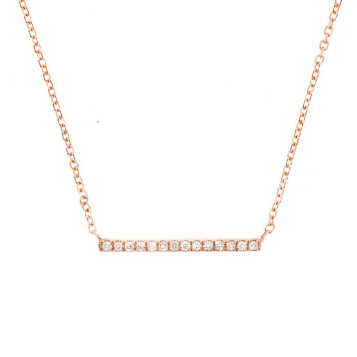 Diamond Line Necklace Rose