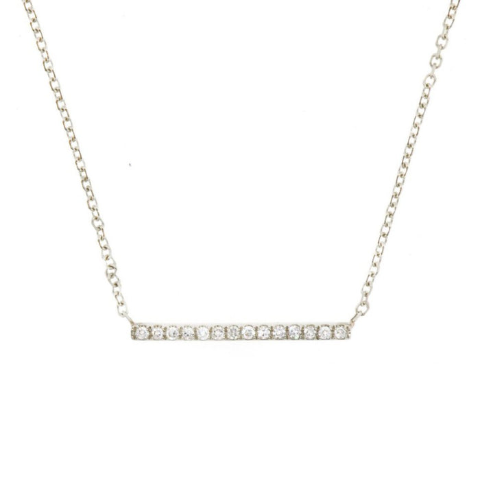 Diamond Line Necklace White