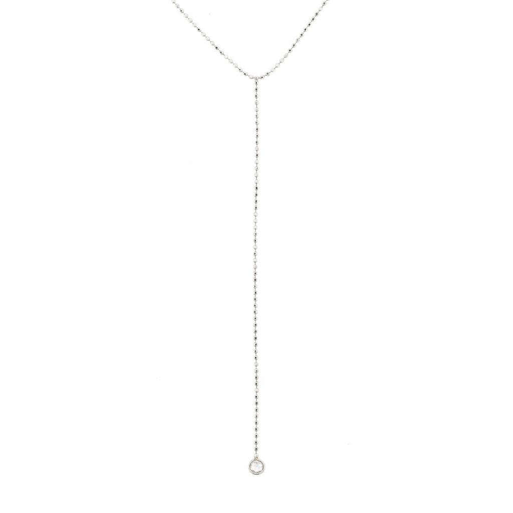 Diamond Bead Chain Lariat