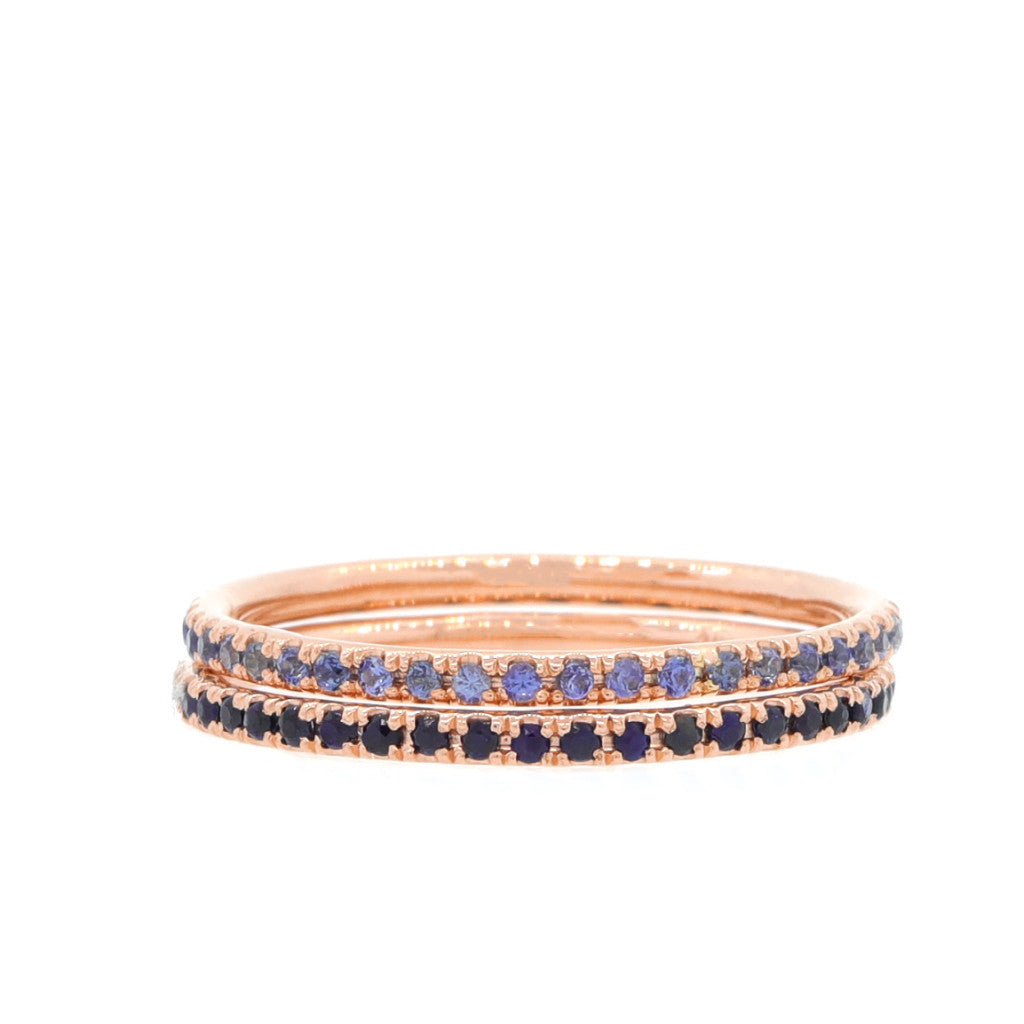 Sapphire Eternity Band - Midnight Blue