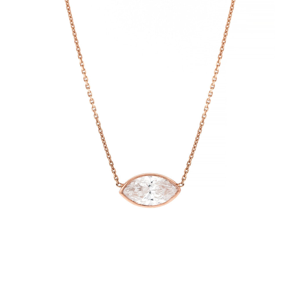 Diamond Marquise Solitaire Necklace