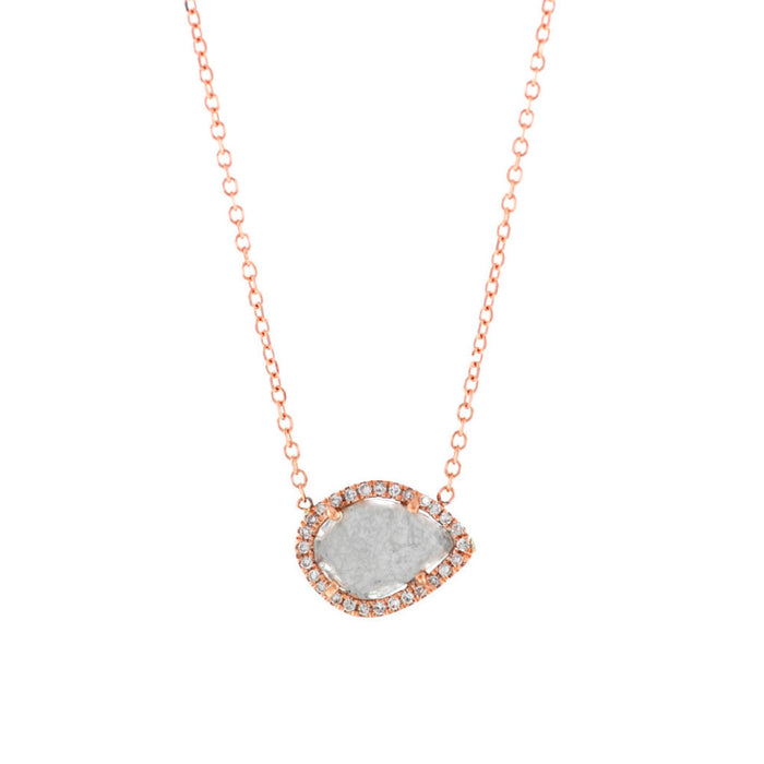 Diamond Slice Necklace-Rose