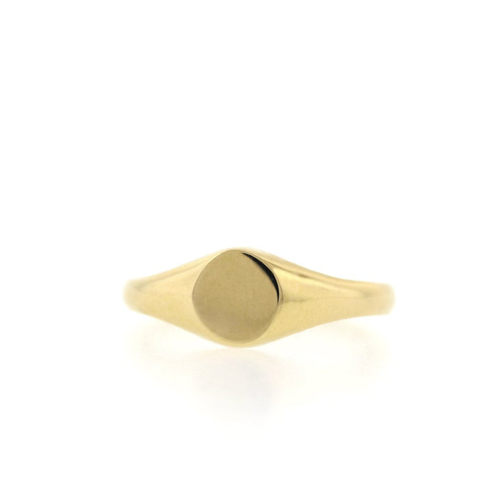 Round Gold Pinky Ring