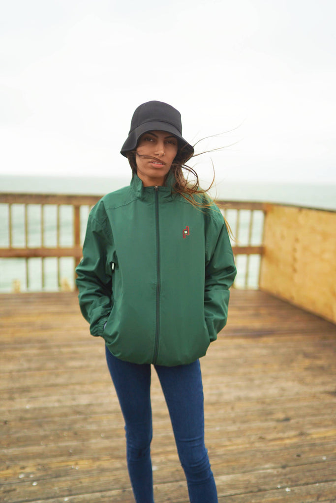Forest Green Unisex Windbreaker Jacket