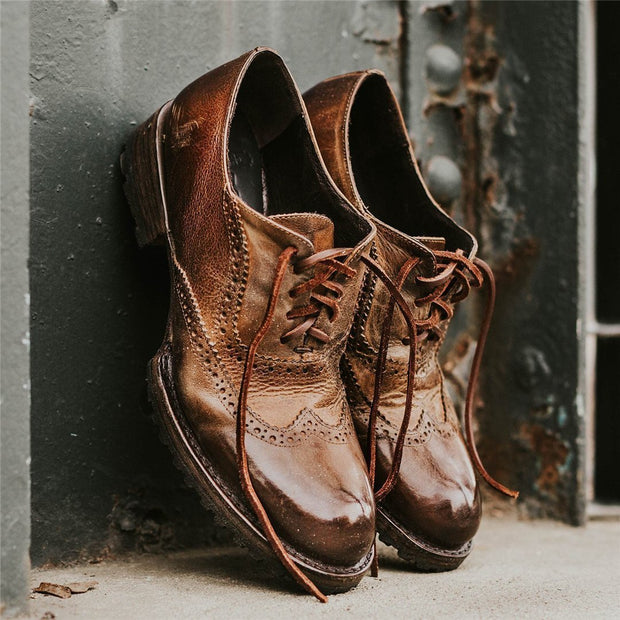 Men's Vintage Fashion Lace-Up Leather Shoes