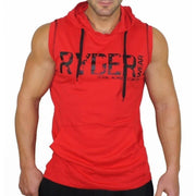 Hooded Casual Sports Fitness Letter Sleeveless Vest