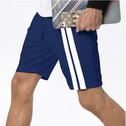 Men's Fashion Casual Striped Solid Color Shorts