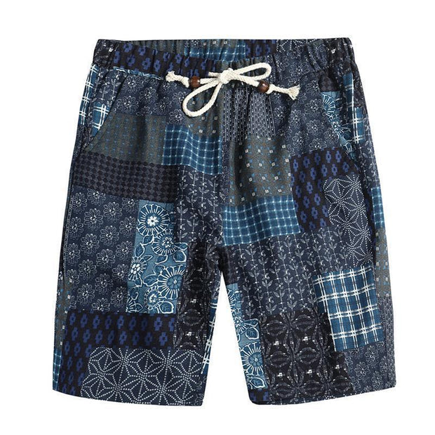 Men's Casual Printed Colour Beach Loose Straight Shorts