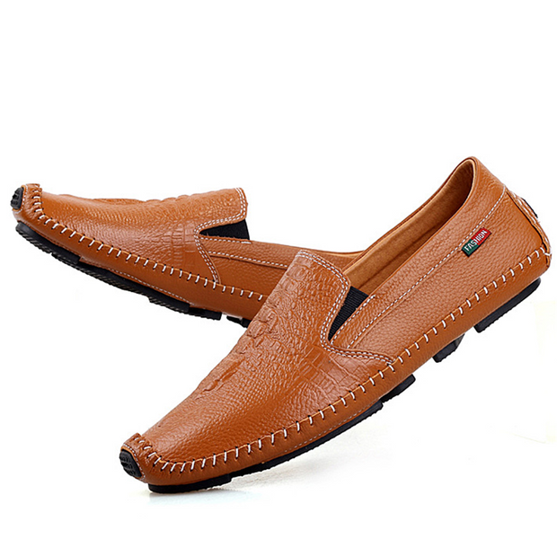 Men's crocodile leather casual shoes
