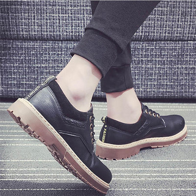 Men's retro tool leather shoes