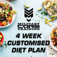 Load image into Gallery viewer, MCT 4 WEEK CUSTOMISED DIET PLAN - MilitaryCoreTraining