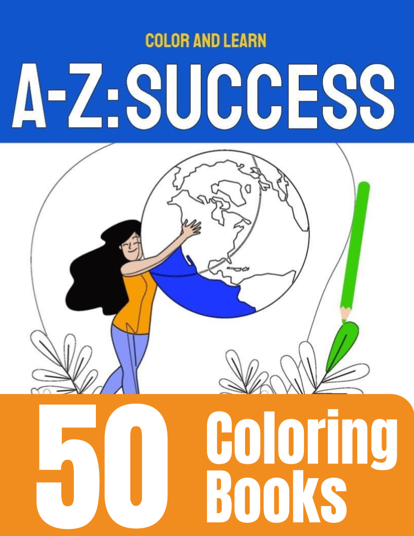 50 A-Z: Success coloring books - Side Hustle Market