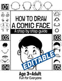 Google Slides How to Draw a Comic Face (Customizable and Commercial Usage) - Side Hustle Market