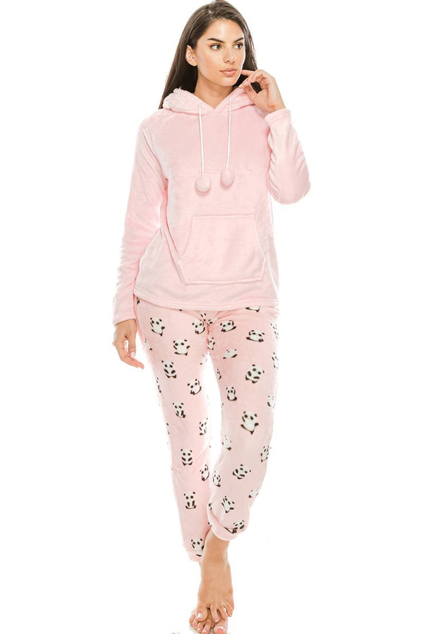 2pc Flannel Pj Set W/ Hoodie demochatbot