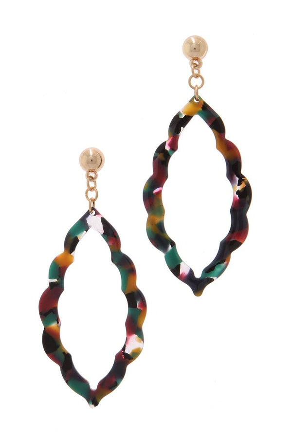Acetate Moroccan Shape Post Drop Earring demochatbot