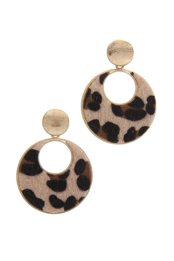 Animal Print Post Drop Earring demochatbot