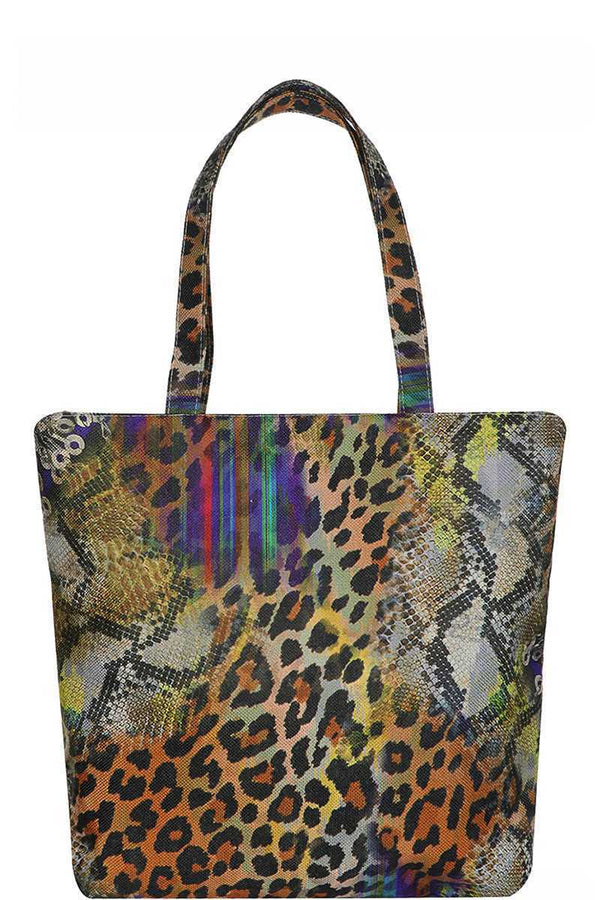 Animal Print Tote Bag demochatbot