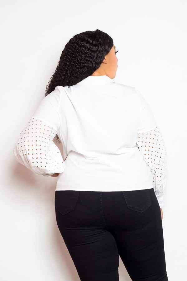 Blouse With Punched Sleeves demochatbot