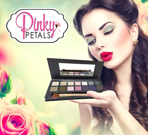 BUFFY EYESHADOW PALETTE - 7 MATTE AND 7 SHIMMER COLORS - Pinky Petals