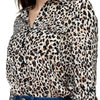 Cheetah Print Double Pocket Shirt demochatbot