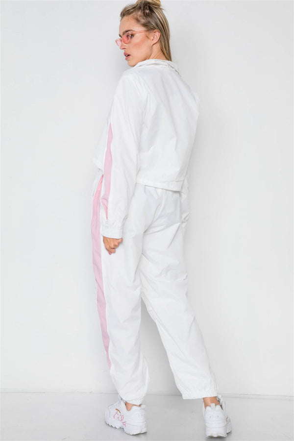 Colorblock Windbreaker Jacket Pant Set demochatbot