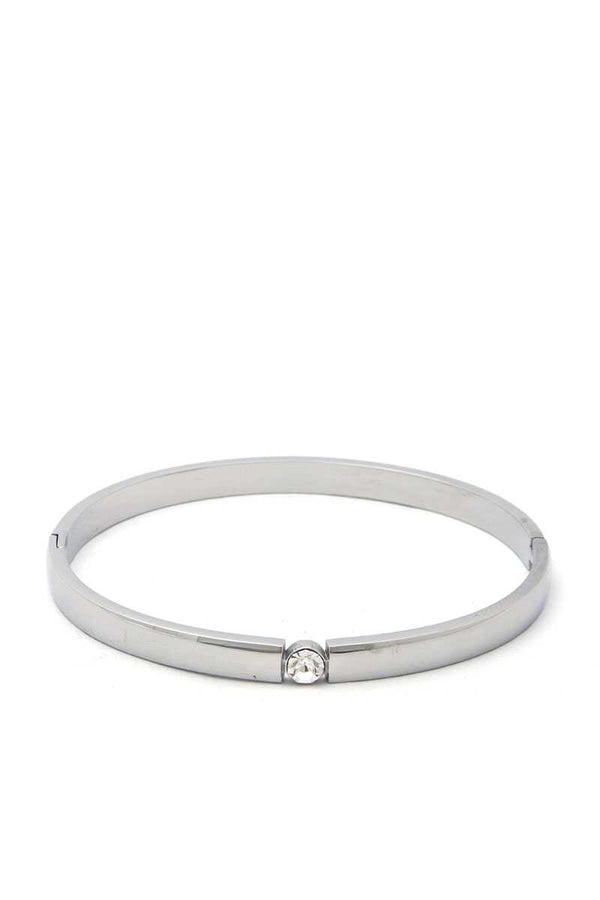 Cubic Zirconia Stainless Steel Bangle demochatbot